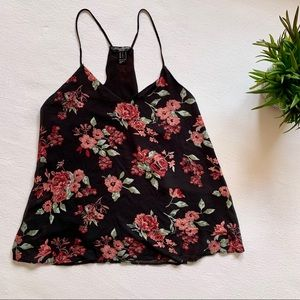 Streetwear Society V-Neck Camisole Floral Pink